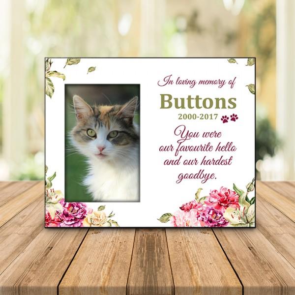 Spring Floral Pet Memorial Frame